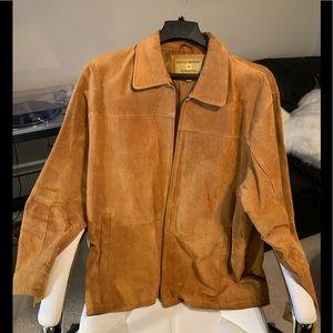 BOSTON HARBOUR Suede Leather Jacket  Tan Men's XXL